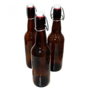 Бутылка с бугельной пробкой коричневое стекло, 0,5 л (15 шт.)