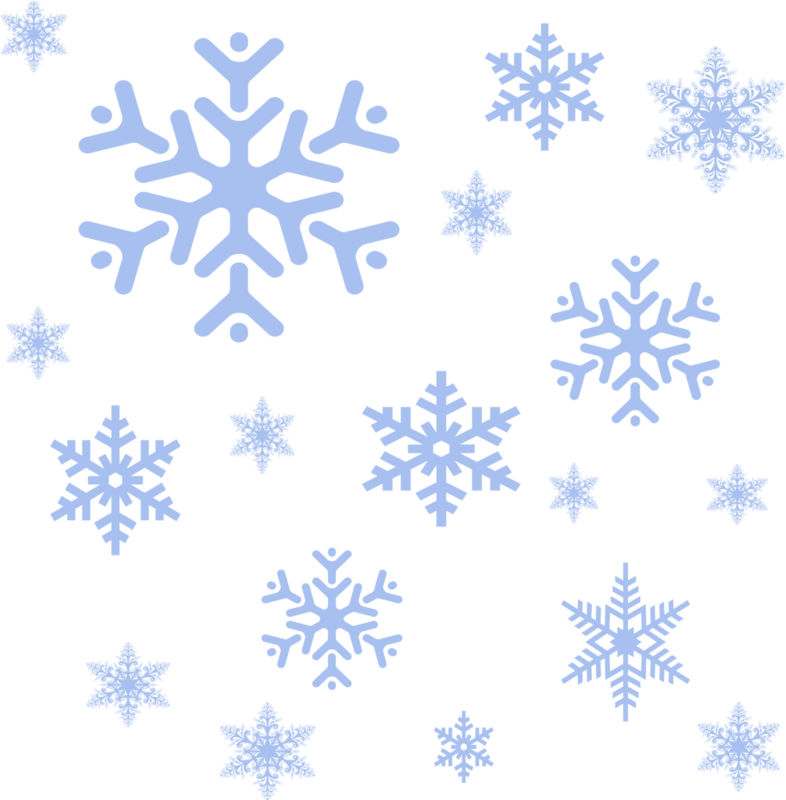 снег без фона