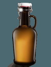 Бутылка пивная с бугельной пробкой,